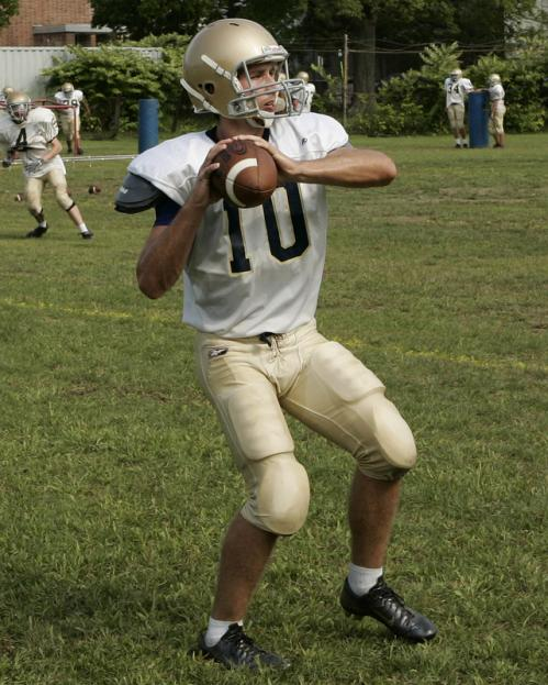 Coyle & Cassidy quarterback Conor Henry (10) looks to pass.