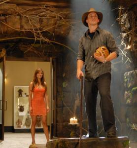Vanessa Minnillo and Matt Lanter in ''Disaster Movie.''