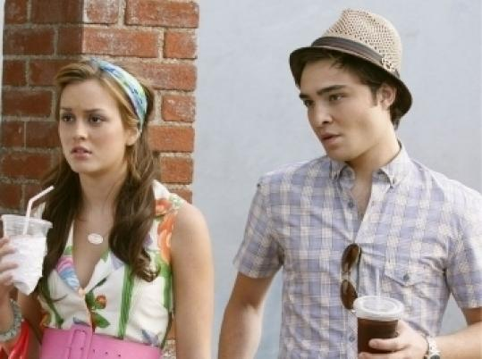 Leighton Meester and Ed Westwick in ''Gossip Girl.''