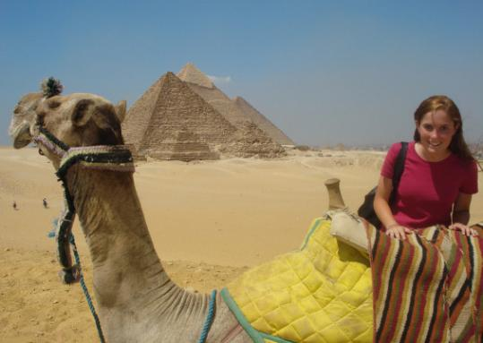 Young ambassador Catie Ashley of Hull spent a year in Egypt as an exchange student.