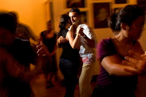 Fancy footwork: Bassem Youseff, of Somerville, danced with Tana Ruegamar, of Cambridge, at the milonga. More info on the Lily Pad SUBMIT Your nightlife photos! TALK What scene should we visit next?