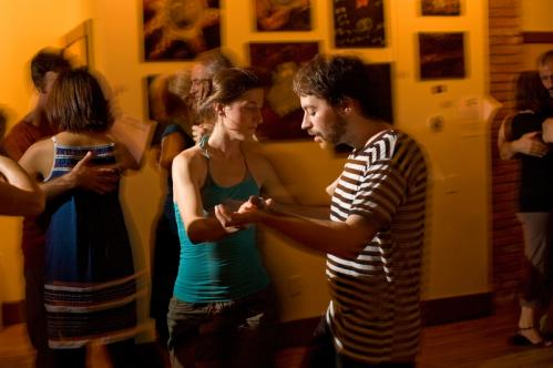 Kirill Shklovsky (right), of Cambridge, the president of the MIT Tango Club, led his partner in a tango. He started the milonga at the Lily Pad three years ago. More info on the Lily Pad SUBMIT Your nightlife photos! TALK What scene should we visit next?