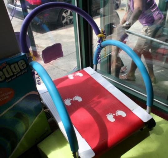 My Treadmill children's fitness equipment at Henry Bear's Park in Brookline Village.