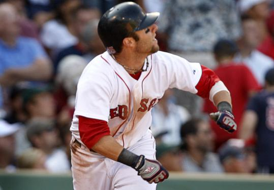 Dustin Pedroia slammed a solo home run in the seventh inning to spark a Sox rally, his second homer in two games.