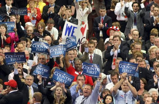 John Tlumacki/Globe StaffNorth Carolina's section Tuesday. Only 36 GOP delegates at this GOP convention are black, the lowest tally since 1964.