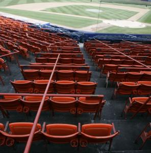 A pair of these seats from Shea Stadium will cost you $869. Yankee Stadium also will have a going-out-of-business sale.