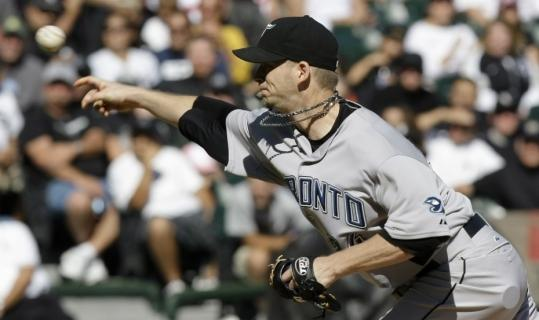 Toronto starter A.J. Burnett allowed just one hit and one unearned run over seven innings and struck out seven to earn his 17th victory of the season.