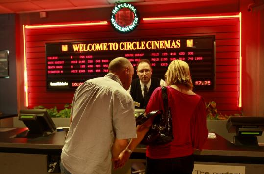 As manager Jim Brink worked the final showing at Circle Cinemas last Sunday, Tim and Anna O'Sullivan of Chestnut Hill decided what movie they'd see.