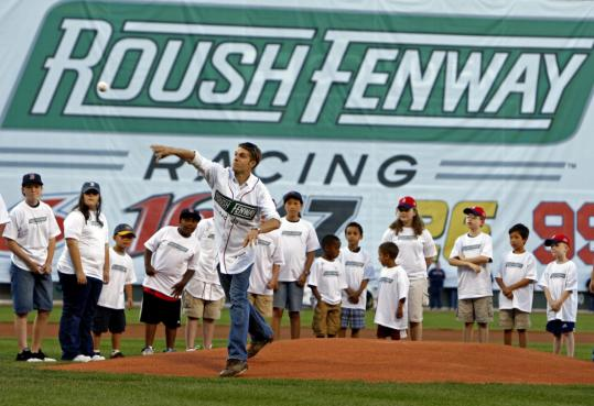 Roush Fenway Racing, the premier NASCAR team owned by Red Sox principal John Henry's Fenway Sports Group, at Fenway in June. The group hopes to win racing fans through youths.