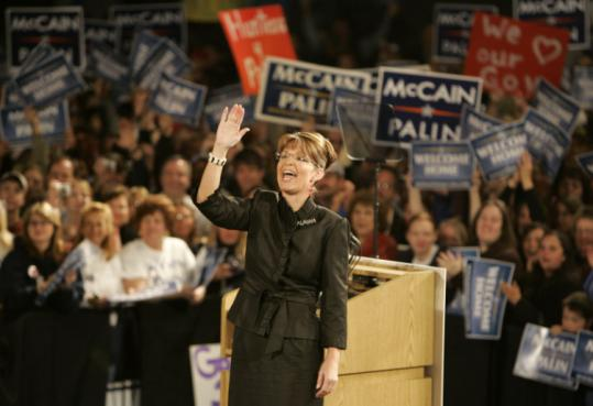 Republican vice presidential candidate Sarah Palin got a spirited sendoff at a rally in Anchorage yesterday.