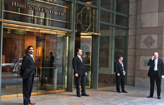 Security was in place at Lehman Brothers on High Street yesterday before the 158-year-old investment bank filed for bankruptcy.