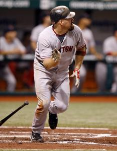 Kevin Youkilis was part of the home run parade - the Sox hit six - launching his in the fourth.