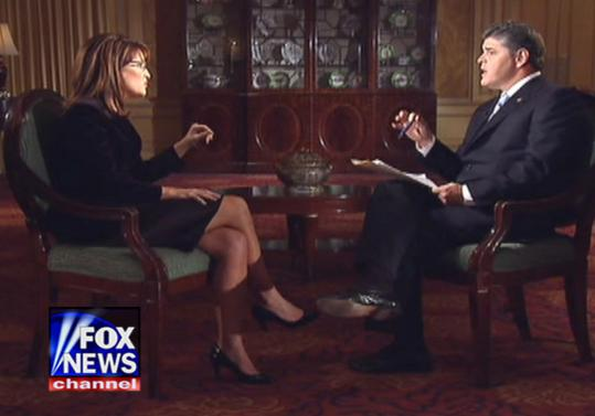 In an interview whose second part is scheduled to air tonight, Sarah Palin told Fox News Channel's Sean Hannity that she and John McCain disagree on oil drilling in the Arctic National Wildlife Refuge, but that she will ''keep working on him.''