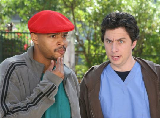 From left: Turk (Donald Faison) and J.D. (Zach Braff) in ''Scrubs.''