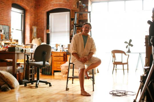 ''I try to resist technology for technology's sake,'' says Steve Hollinger (pictured in his Fort Point Channel studio).