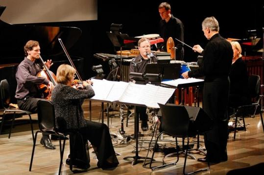Conductor Richard Pittman led Boston Musica Viva Thursday night in the Ditson Festival of Contemporary Music at the ICA.