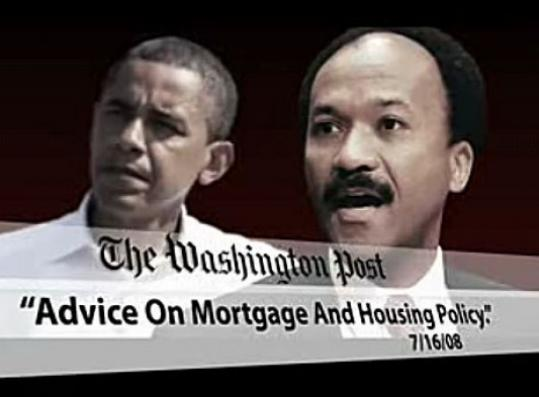 A McCain ad claims Barack Obama is getting advice from Franklin Raines, a former Fannie Mae CEO, and calls it ''shocking.''