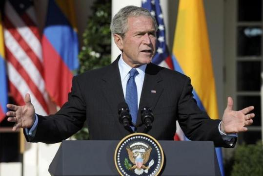 President Bush discussed the government's bailout proposal yesterday during a news conference at the White House.