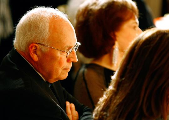 Vice President Dick Cheney, shown at a White House dinner last week, was sued to ensure no presidential records are destroyed or handled in a way that would make them unavailable.