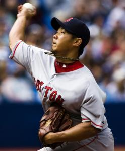 Daisuke Matsuzaka was efficient, needing just 109 pitches to get through seven innings.