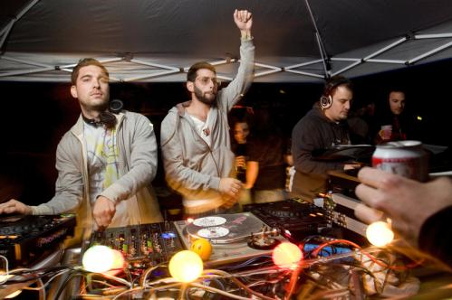 Hey, DJ: Spinsters Sergio Santos, Eli Goldstein, and Randy Deshaies kept the crowd moving. More info on the Marsh Post American Legion SUBMIT Your nightlife photos! TALK What scene should we visit next?