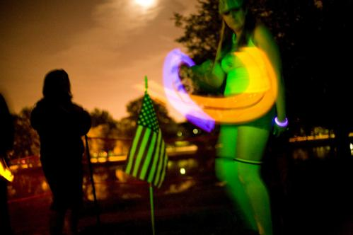 Michelle Hicks of East Boston danced with her glow sticks during the event. More info on the Marsh Post American Legion SUBMIT Your nightlife photos! TALK What scene should we visit next?