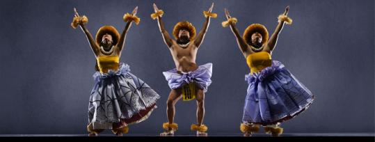 Loke Campbell, Kia'i Maurille, and Maka Aniciete (from left) are dancers in the Halau 'o Keikiali'i, a traditional Hawaiian cultural group based in San Francisco, which will open