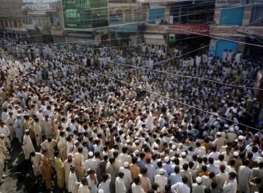 People of Mingora, Pakistan, protested yesterday against long curfews, poor civic facilities, and short food supplies.