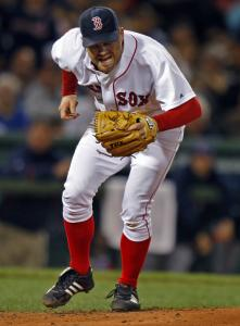 Red Sox starter Paul Byrd uses his head, ducking out of the way of a liner hit by Jhonny Peralta in the fifth inning.