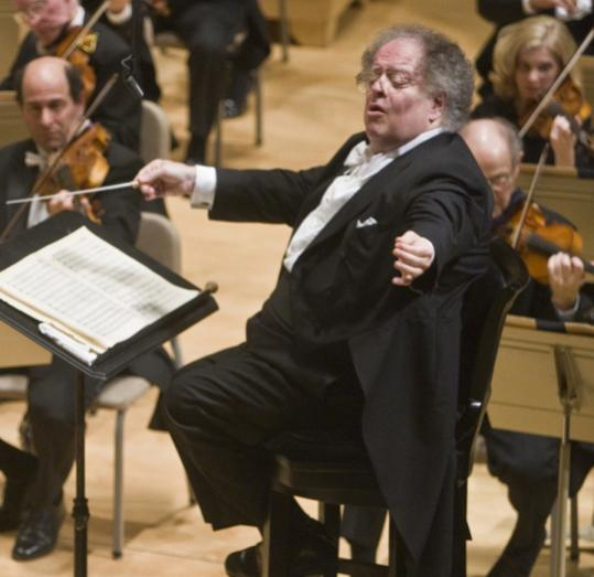 James Levine conducting the BSO on Friday.