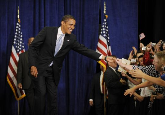 ''Things are never smooth in Congress,'' Barack Obama told the crowd at Mountain Range High School in Westminster, Colo.