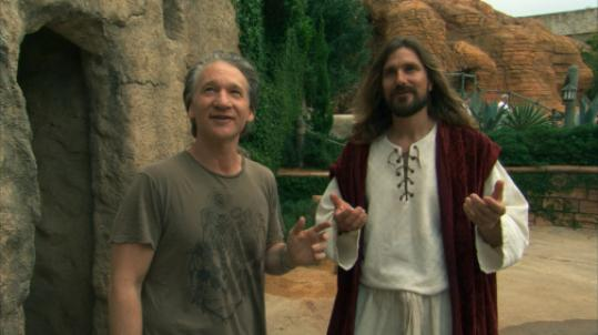 Bill Maher (left) visits The Holy Land Experience theme park in Orlando, Fla.