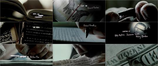 The opening sequence from the movie ''Se7en'' (above) appears on the ''Art of the Title'' website along with titles from many other films (examples below).