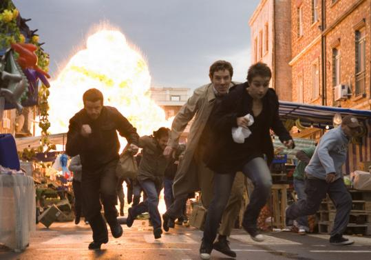 On the run in ''The Last Enemy'' are Max Beesley (left), Benedict Cumberbatch, and Anamaria Marinca.