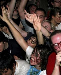 Electronic composer Dan Deacon (seen in New York in 2007) was Friday's big draw.