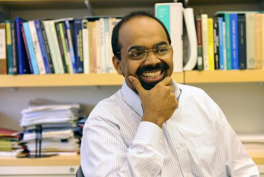 L. Mahadevan is a professor of applied mathematics. But he's also a physicist. And an engineer. ''One doesn't have to look too hard around to find interesting questions, beautiful questions,'' he said.