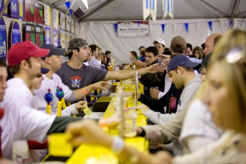 What's a beer festival without the beer lines? More info on the Harpoon Brewery SUBMIT Your nightlife photos! TALK What scene should we visit next?