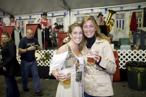 Which one here is not like the other? Holly Kee of Newton and Denise Godfrey of Hopkinton hung out at Octoberfest. 'I'm a Viking, but I love the outfit,' Kee (left) said of the authentic German dress a friend asked her to wear. More info on the Harpoon Brewery SUBMIT Your nightlife photos! TALK What scene should we visit next?