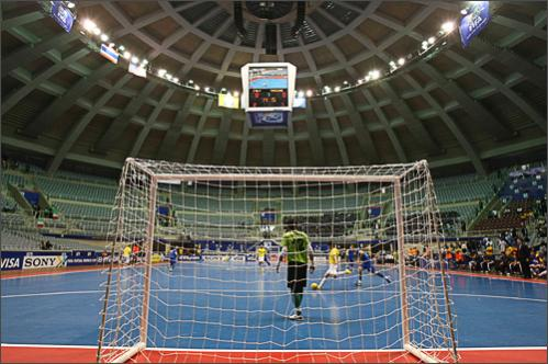 See more photography at Boston.com/photos General view of the Maracanazinho stadium in Rio de Janeiro during the match between Italy and Thailand at the FIFA Futsal World Cup Brazil 2008 match, on September 30, 2008. The Final will be played October 19 in Rio De Janeiro.
