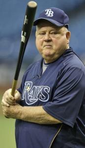 Don Zimmer will be in his customary attire - a baseball uniform - during the Rays' BP.