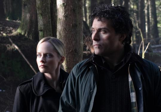 Rufus Sewell plays a biophysicist and Marley Shelton plays his FBI protection officer in ''Eleventh Hour.''