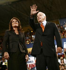John McCain and Sarah Palin held a rally yesterday in Bethlehem, Pa. Polls indicate the candidate has lost any gains he made among women by making Palin his running mate.