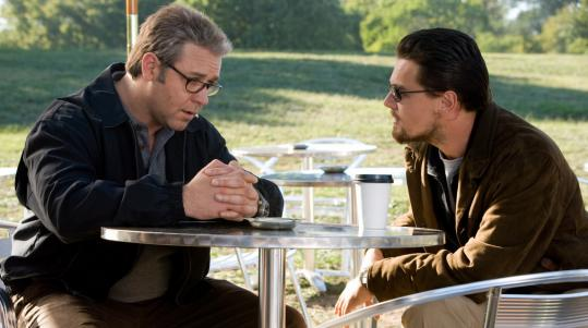 Russell Crowe (left) and Leonardo DiCaprio play CIA agents in Ridley Scott's ''Body of Lies.''