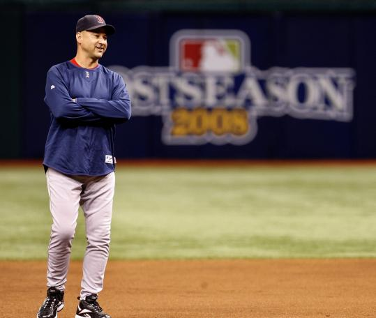 Terry Francona, shown yesterday at Tropicana Field, has redefined a Red Sox post that long was measured in terms of failure.