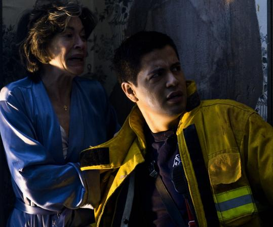 Elaine Kagan and Jay Hernandez in the horror flick ''Quarantine.''