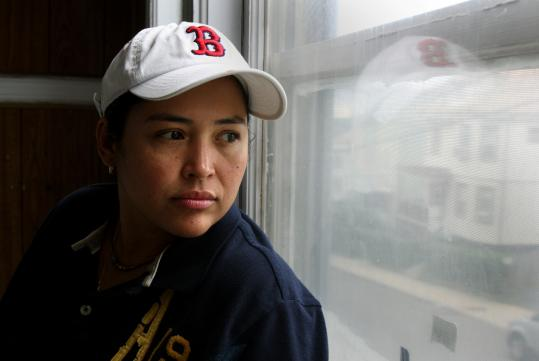 Delmy Berganza left El Salvador and came to the United States in 1989, she says. Though she is a lesbian, she was afraid to utter the word in her homeland. She was granted asylum in August.