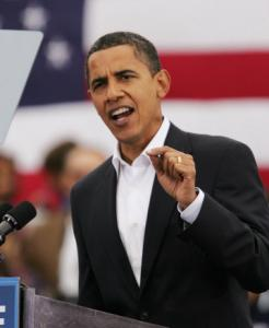 Barack Obama has seized the electoral momentum during the economic crisis.