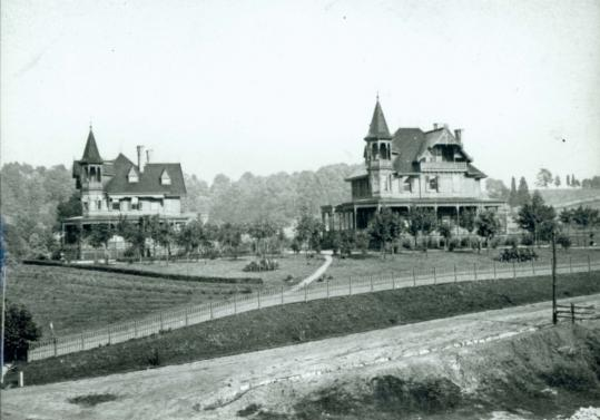Charles and Edward Kreischer lived side-by-side in these Staten Island mansions and worked at the family brick factory. One of the homes was destroyed by fire.