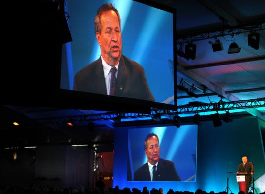 In his keynote address, Lawrence Summers warned of a backlash against globalization.