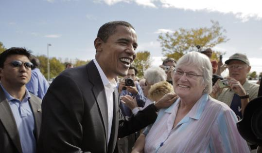 Barack Obama campaigned at Maumee Bay Resort in Oregon, Ohio, yesterday. He heads to New Hampshire tomorrow.
